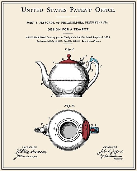 Tea Pot Patent by FinlayMcNevin