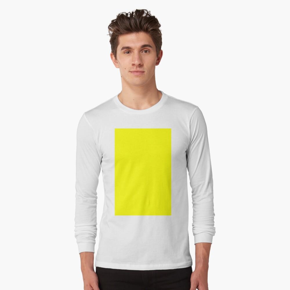 Neon fluorescent Yellow | Yellow|neon Yellow/Fluro Yellow Long Sleeve T-Shirt