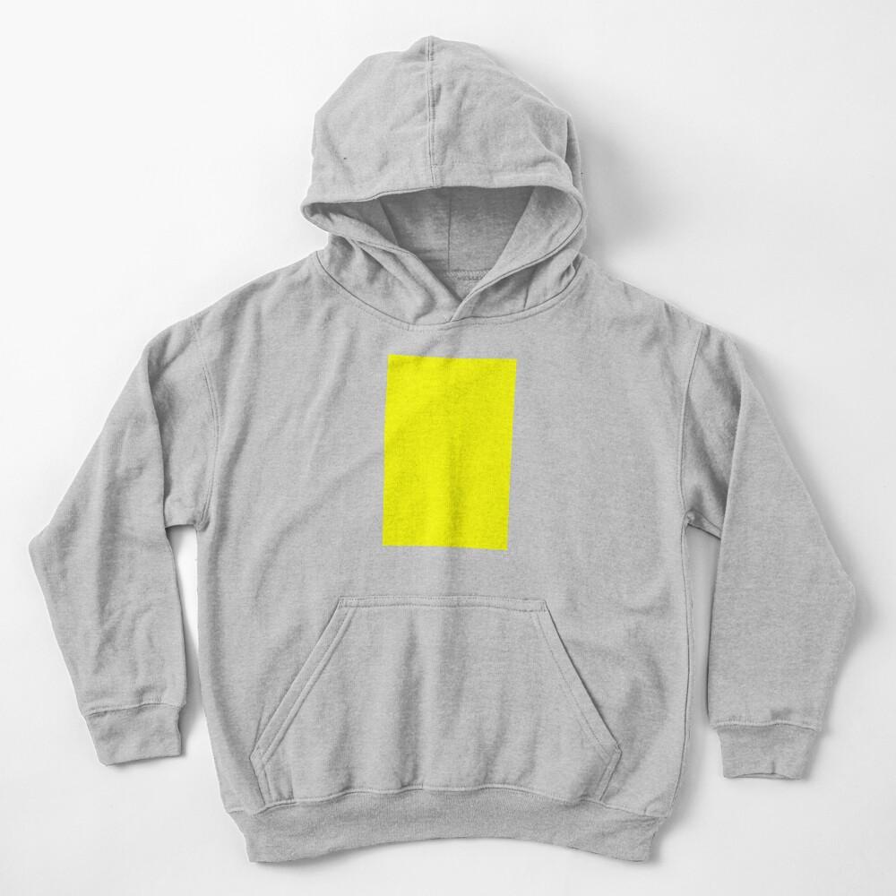Neon fluorescent Yellow   Yellow neon Yellow/Fluro Yellow Kids Pullover Hoodie