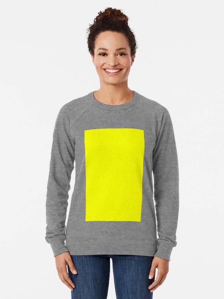 Alternate view of Neon fluorescent Yellow | Yellow|neon Yellow/Fluro Yellow Lightweight Sweatshirt
