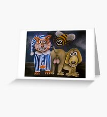 The bee's knees, the cat's pyjamas and the dog's bollocks Greeting Card