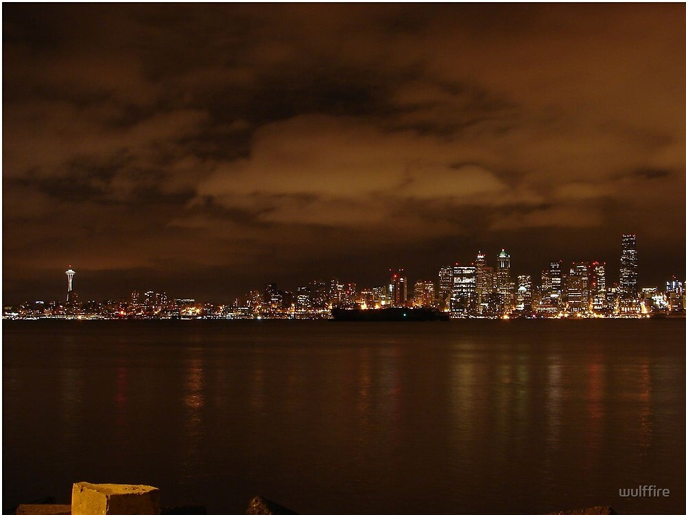 Night Time in Seattle by wulffire