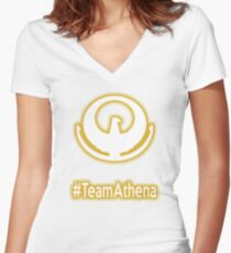 #TeamAthena (Saint Seiya) Women's Fitted V-Neck T-Shirt