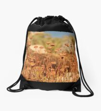 sunbathing - joshua tree Drawstring Bag