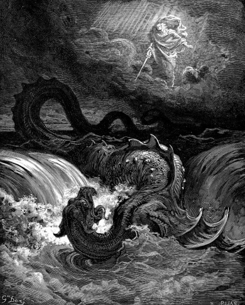 The defeat of leviathan - Gustave Dore  by 1B1S