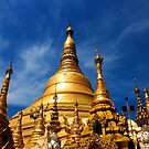 Golden Shwedagon Pagoda by David McGilchrist