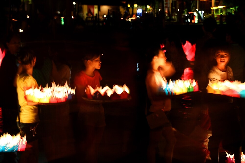 Selling lanterns in Hoi An by David McGilchrist