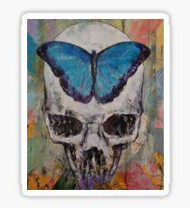 Butterfly Skull Sticker