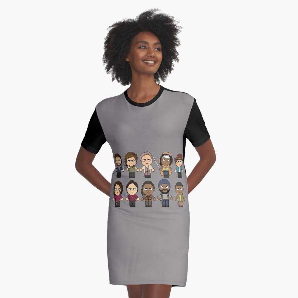 The Walking Dead - Personajes principales Chibi - AMC Walking Dead Vestido camiseta