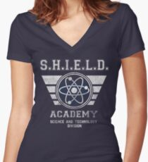 SHIELD Academy Women's Fitted V-Neck T-Shirt