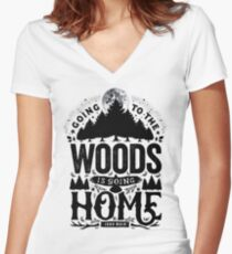 The Woods Women's Fitted V-Neck T-Shirt