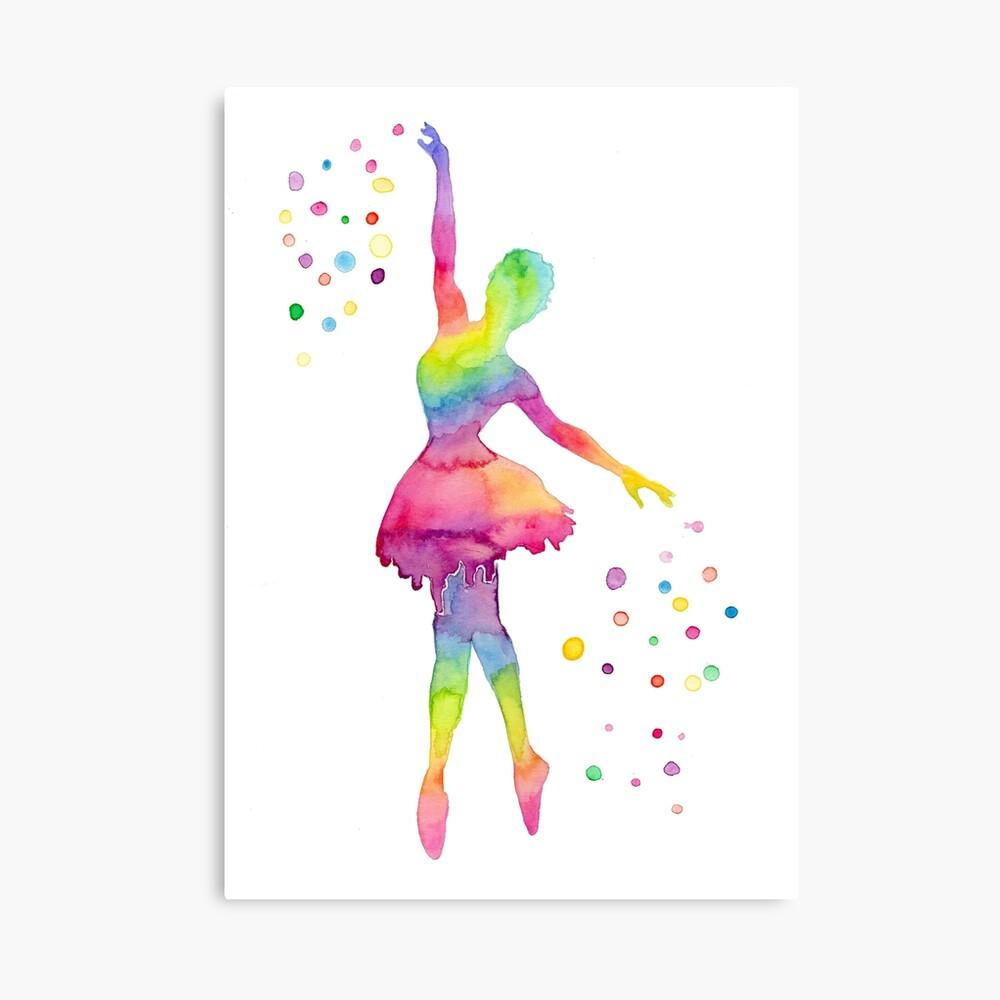 Ballerina-Mädchen Leinwanddruck