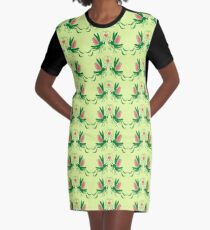 Grasshoppers deeply falling in love Graphic T-Shirt Dress