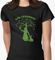 Eco-Terrorist Women's Fitted T-Shirt