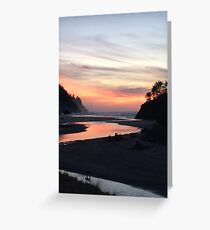 Sunset in Lincoln City Greeting Card