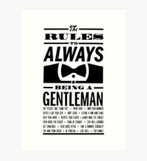 To be a Gentleman Art Print