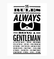 To be a Gentleman Photographic Print