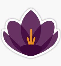 Crocus Flower Sticker