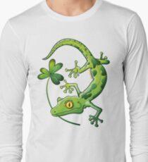 Saint Patrick's Day Gecko Long Sleeve T-Shirt