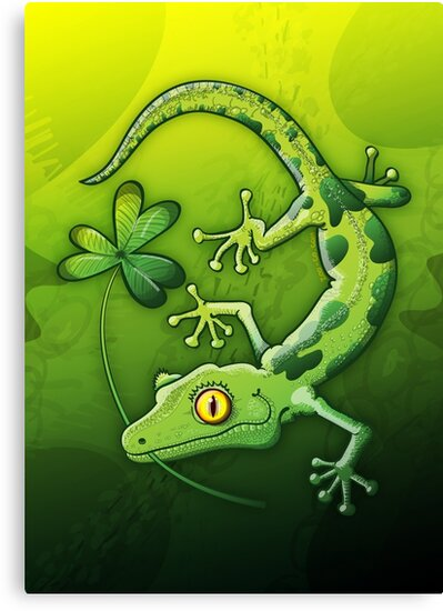 Saint Patrick's Day Gecko by Zoo-co