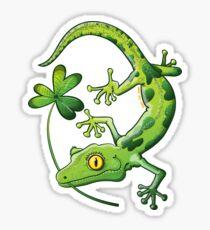 Saint Patrick's Day Gecko Sticker