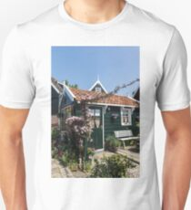 Dutch Country Charm - a Beautiful Little Cottage with Flowers T-Shirt