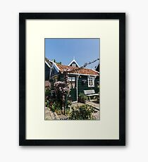 Dutch Country Charm - a Beautiful Little Cottage with Flowers Framed Print