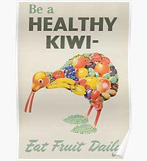 Healthy Kiwi  Poster