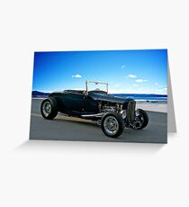 1930 Ford 'Classic Hot Rod' Roadster Greeting Card