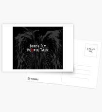 Birds Fly People Talk Postcards