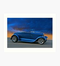 1928 Ford 'Rumble Seat' Roadster Art Print