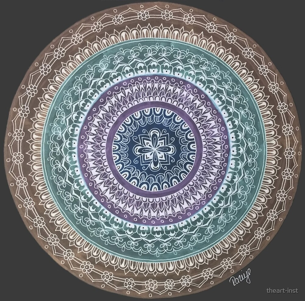 mandala mystic dark by theart-inst