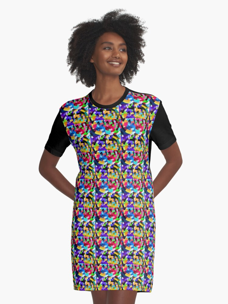 Radial tiles Graphic T-Shirt Dress Front