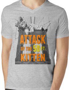 Attack of The 50ft Kitten in Brooklyn Mens V-Neck T-Shirt