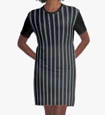 Simple Verticals Graphic T-Shirt Dress