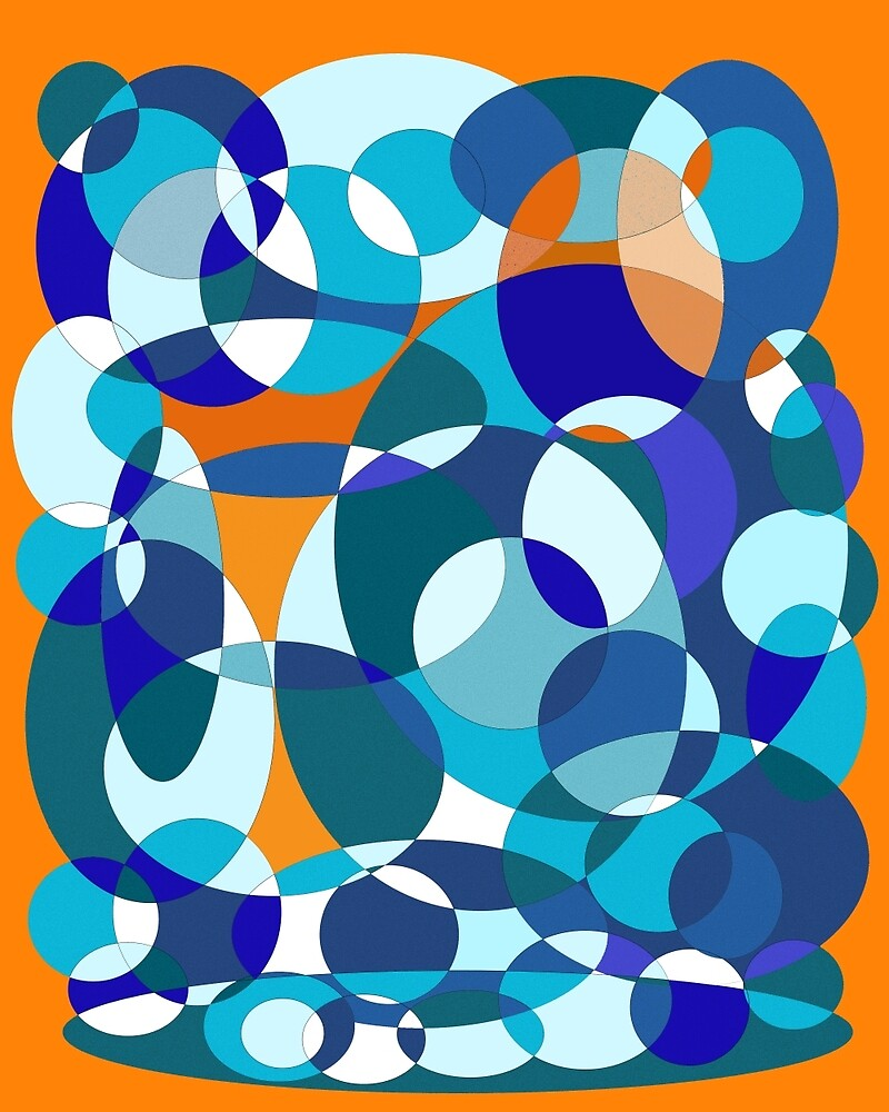 Blue and orange design by Moma by ValentinaHramov