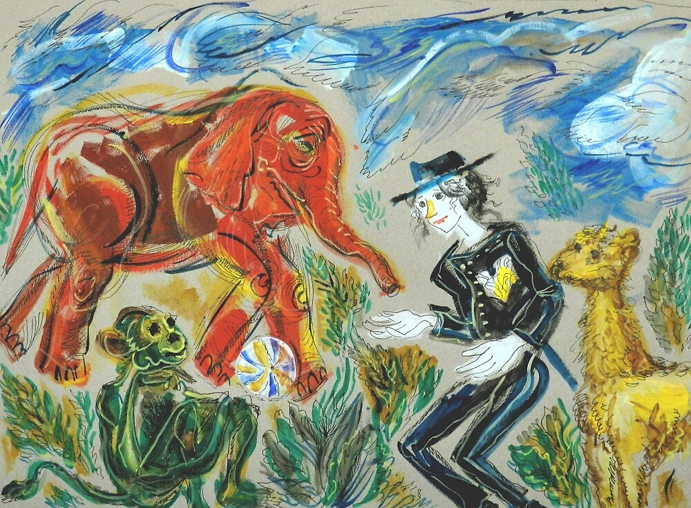 Michael Jackson's Zoo: Sergei Lefert's drawing by SergeiLefert