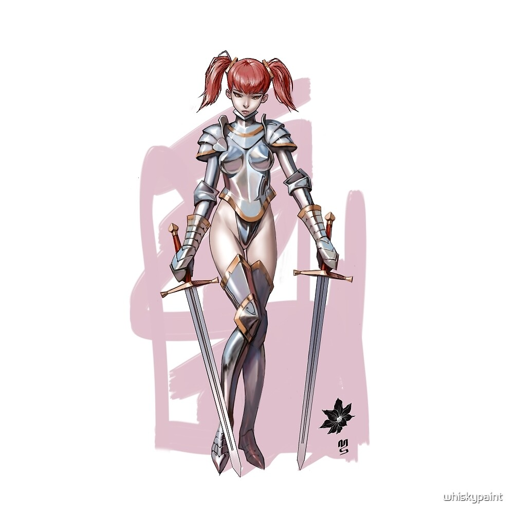 knight girl by whiskypaint