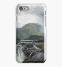 Thomas Moran - The Wilds Of Lake Superior. Mountains landscape: mountains, rocks, rocky nature, sky and clouds, trees, peak, forest, rustic, hill, travel, hillside iPhone Case/Skin