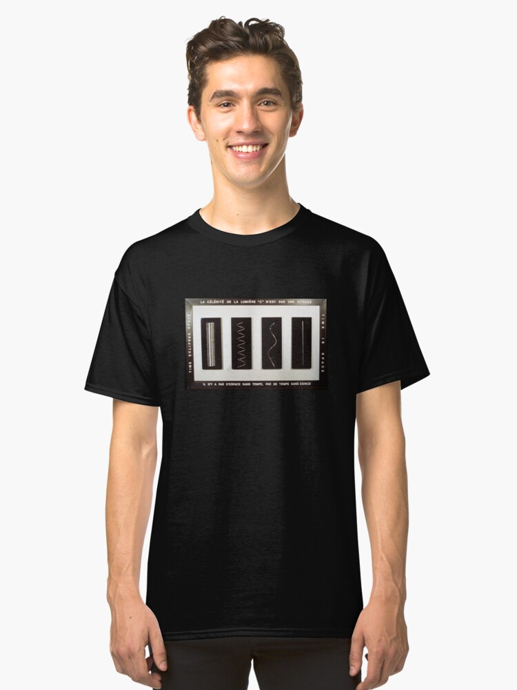 The Speed of Light According to René Magritte Classic T-Shirt Front