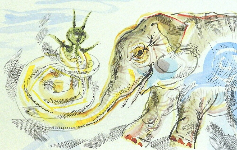 Elephant-Snail: Sergei Lefert's drawing by SergeiLefert