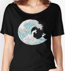 Psychodelic Kunagawa Surfer Cat Women's Relaxed Fit T-Shirt