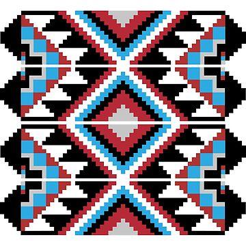 8 bit geometric pattern by playstopreplay
