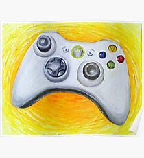 XBOX 360 Controller Impressionist Painting Poster