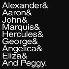 Hamilton Characters  by TaylorMadeStuff
