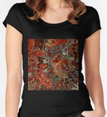 Blood Geode Women's Fitted Scoop T-Shirt