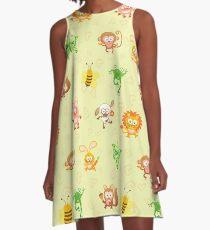 Cute animal kingdom A-Line Dress