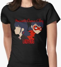 Dual Identities: Marinette and Ladybug Womens Fitted T-Shirt
