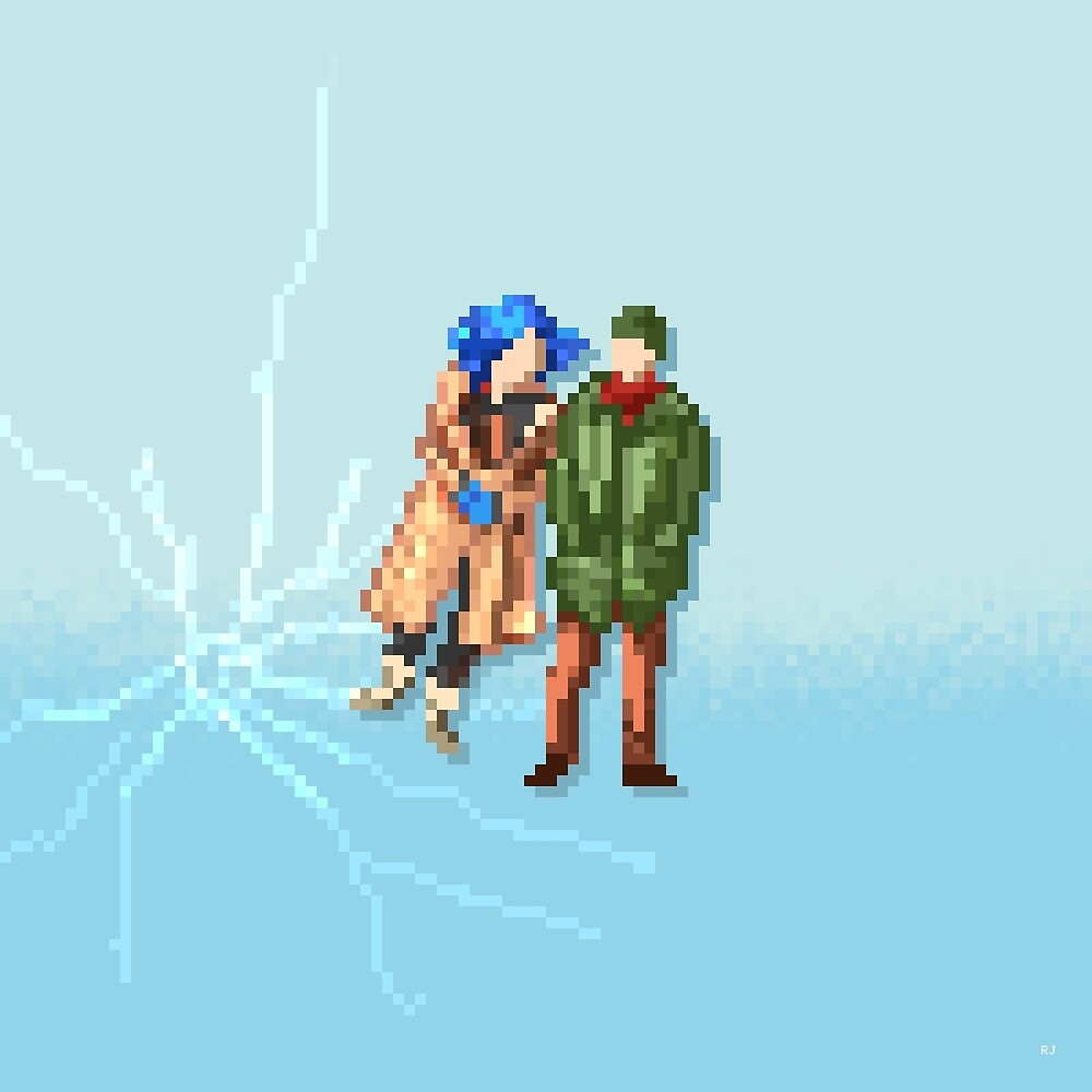 Eternal Sunshine of the Spotless Mind - Pixel Art - Square by ricardojuchem