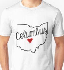 Heart Columbus Unisex T-Shirt